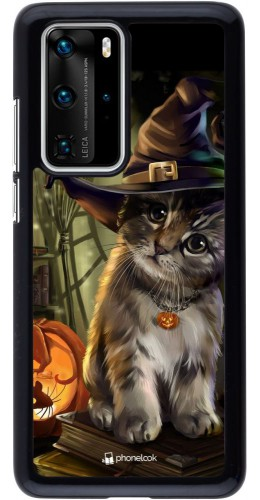 Coque Huawei P40 Pro - Halloween 21 Witch cat
