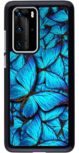 Coque Huawei P40 Pro - Papillon bleu