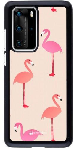 Coque Huawei P40 Pro - Pink Flamingos Pattern