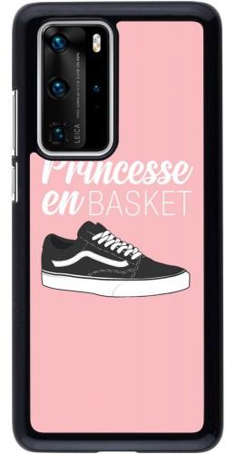 Coque Huawei P40 Pro - princesse en basket
