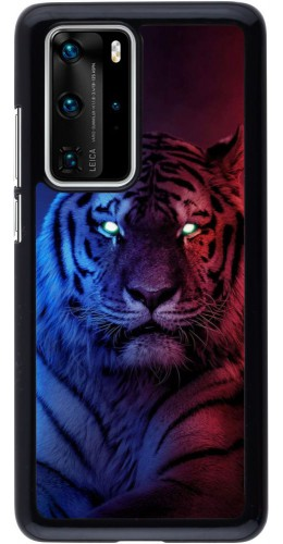 Coque Huawei P40 Pro - Tiger Blue Red