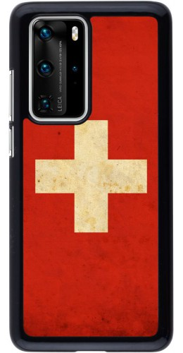 Coque Huawei P40 Pro - Vintage Flag SWISS