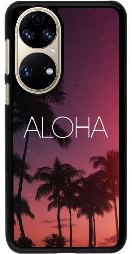 Coque Huawei P50 - Aloha Sunset Palms