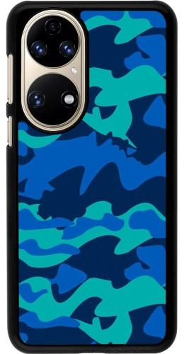 Coque Huawei P50 - Camo Blue