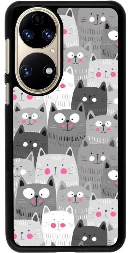 Coque Huawei P50 - Chats gris troupeau