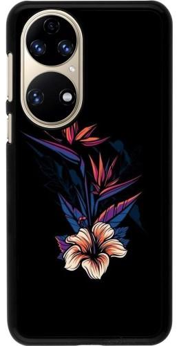 Coque Huawei P50 - Dark Flowers