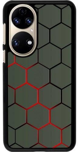 Coque Huawei P50 - Geometric Line red