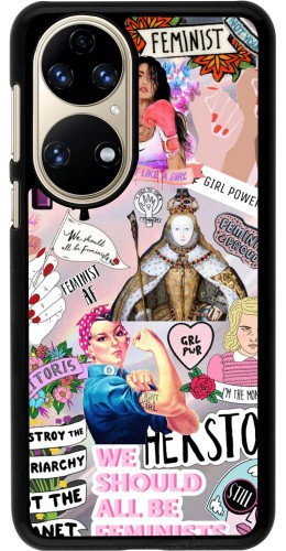 Coque Huawei P50 - Girl Power Collage