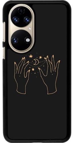 Coque Huawei P50 - Grey magic hands