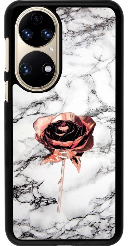 Coque Huawei P50 - Marble Rose Gold