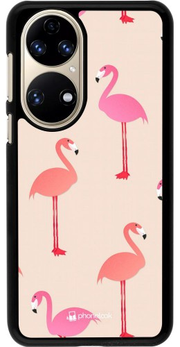 Coque Huawei P50 - Pink Flamingos Pattern