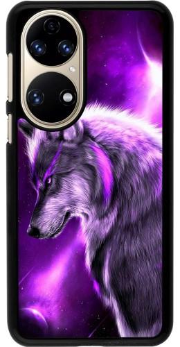 Coque Huawei P50 - Purple Sky Wolf