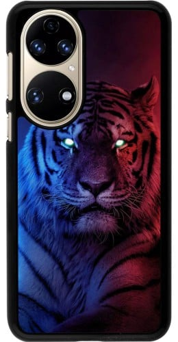 Coque Huawei P50 - Tiger Blue Red