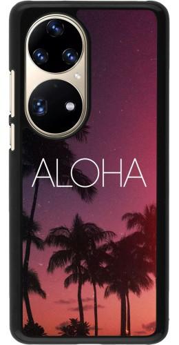 Coque Huawei P50 Pro - Aloha Sunset Palms