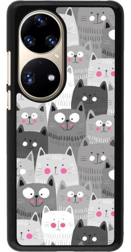 Coque Huawei P50 Pro - Chats gris troupeau
