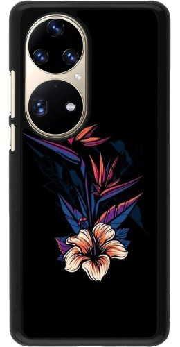 Coque Huawei P50 Pro - Dark Flowers