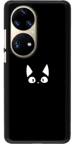 Coque Huawei P50 Pro - Funny cat on black