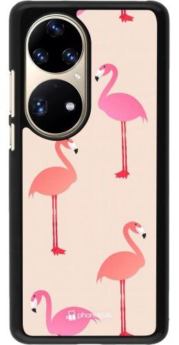 Coque Huawei P50 Pro - Pink Flamingos Pattern