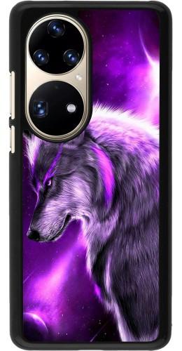 Coque Huawei P50 Pro - Purple Sky Wolf