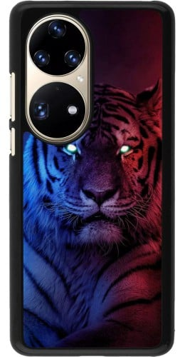 Coque Huawei P50 Pro - Tiger Blue Red