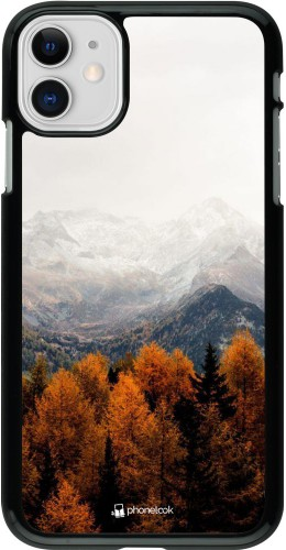 Coque iPhone 11 - Autumn 21 Forest Mountain