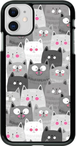 Coque iPhone 11 - Chats gris troupeau