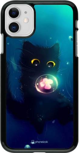 Coque iPhone 11 - Cute Cat Bubble