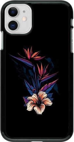 Coque iPhone 11 - Dark Flowers