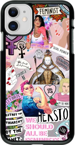 Coque iPhone 11 - Girl Power Collage