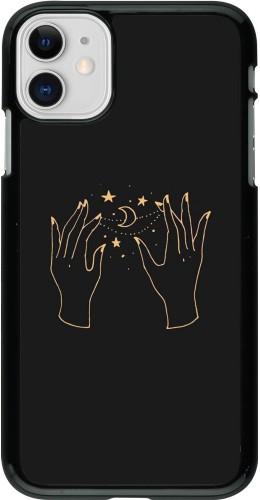 Coque iPhone 11 - Grey magic hands