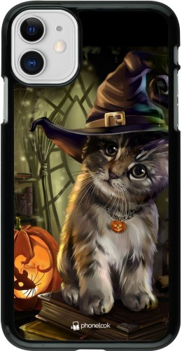 Coque iPhone 11 - Halloween 21 Witch cat