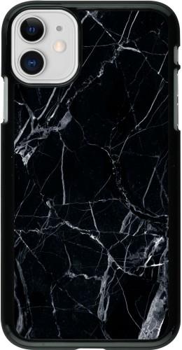 Coque iPhone 11 - Marble Black 01