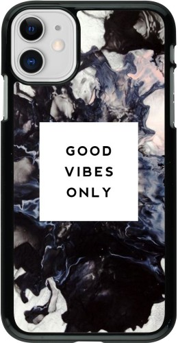 Coque iPhone 11 - Marble Good Vibes Only