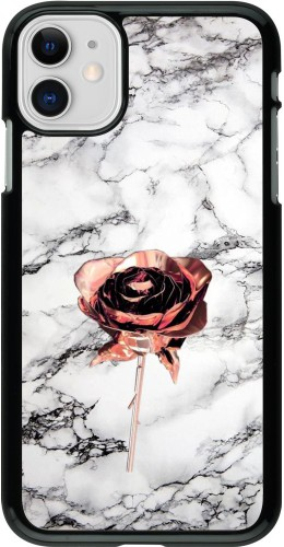 Coque iPhone 11 - Marble Rose Gold