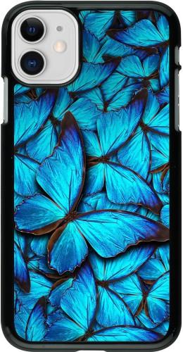 Coque iPhone 11 - Papillon bleu
