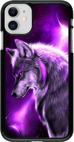 Coque iPhone 11 - Purple Sky Wolf