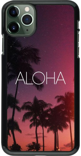 Coque iPhone 11 Pro Max - Aloha Sunset Palms