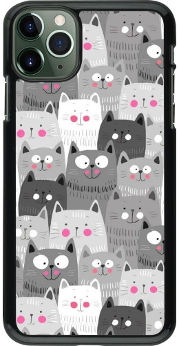 Coque iPhone 11 Pro Max - Chats gris troupeau