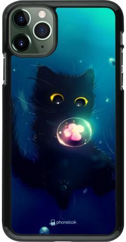 Coque iPhone 11 Pro Max - Cute Cat Bubble