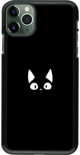 Coque iPhone 11 Pro Max - Funny cat on black