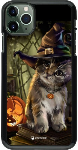 Coque iPhone 11 Pro Max - Halloween 21 Witch cat