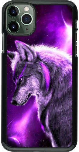 Coque iPhone 11 Pro Max - Purple Sky Wolf