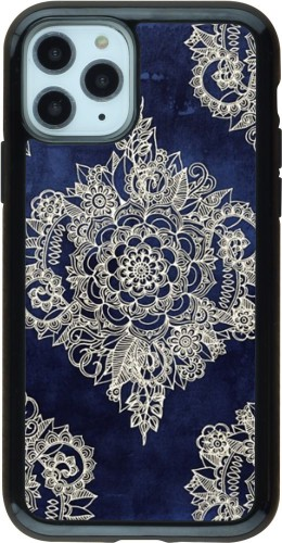 Coque iPhone 11 Pro - Hybrid Armor noir Cream Flower Moroccan