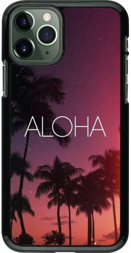 Coque iPhone 11 Pro - Aloha Sunset Palms