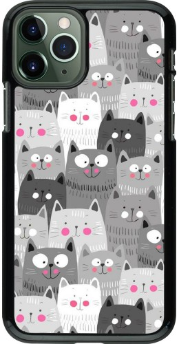 Coque iPhone 11 Pro - Chats gris troupeau