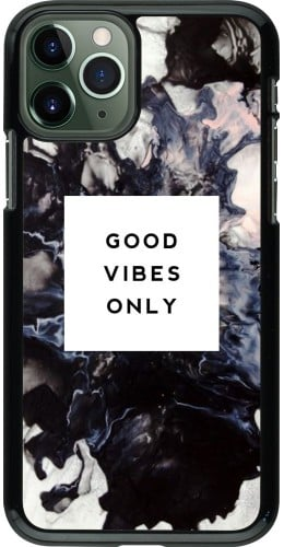 Coque iPhone 11 Pro - Marble Good Vibes Only