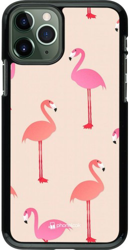 Coque iPhone 11 Pro - Pink Flamingos Pattern