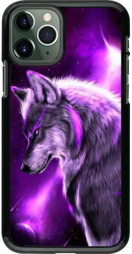 Coque iPhone 11 Pro - Purple Sky Wolf
