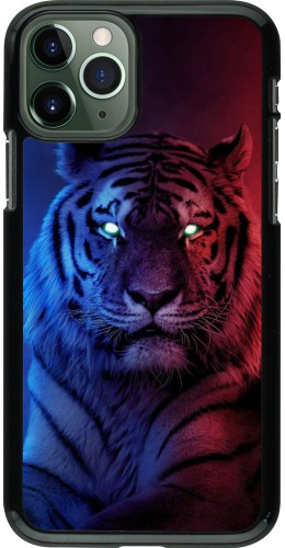Coque iPhone 11 Pro - Tiger Blue Red
