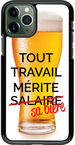Coque iPhone 11 Pro - Tout travail mérite sa bière